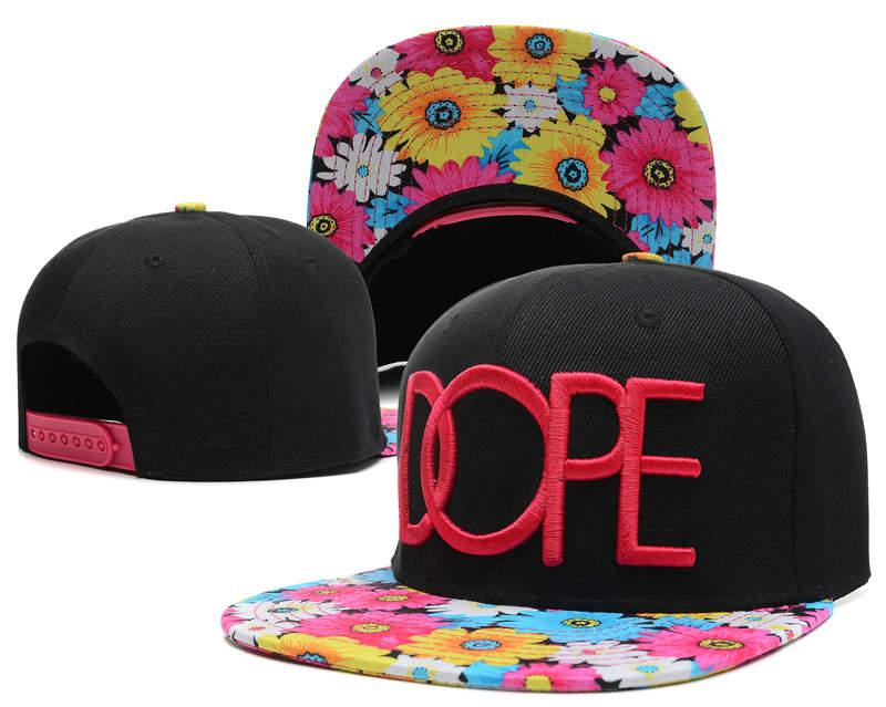 Dope Black Snapback Hat SD