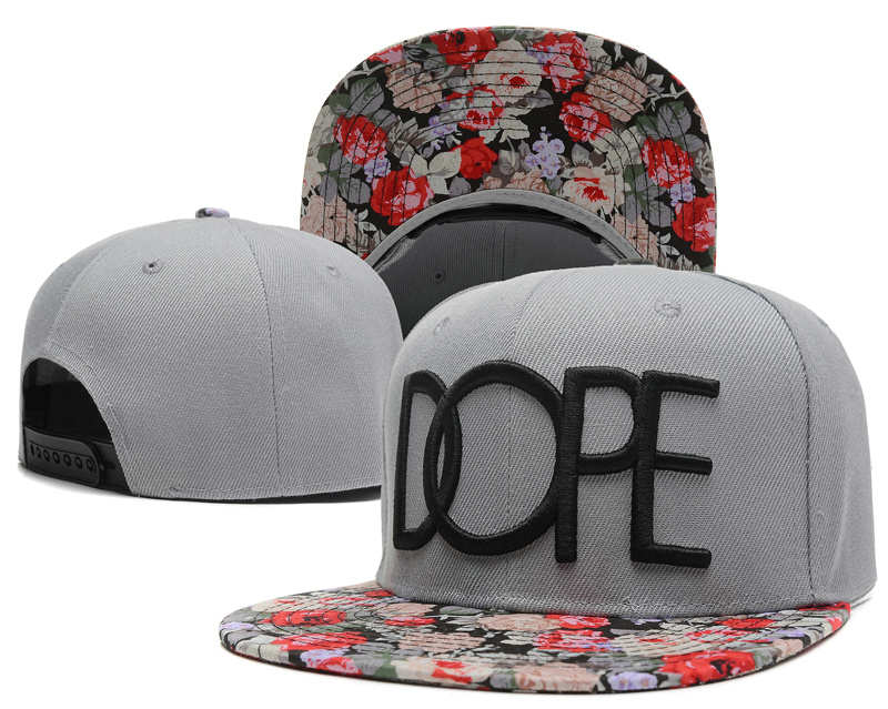 Dope Grey Snapback Hat SD 1