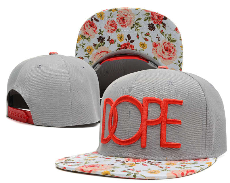Dope Grey Snapback Hat SD 2