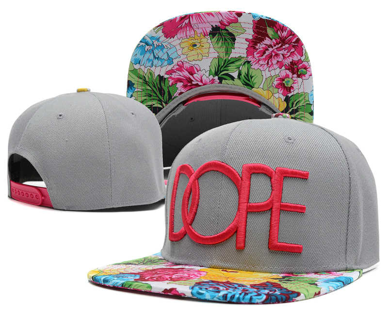 Dope Grey Snapback Hat SD 3