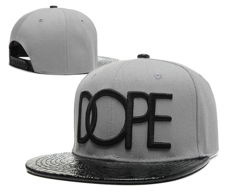 Dope Grey Snapback Hat SD