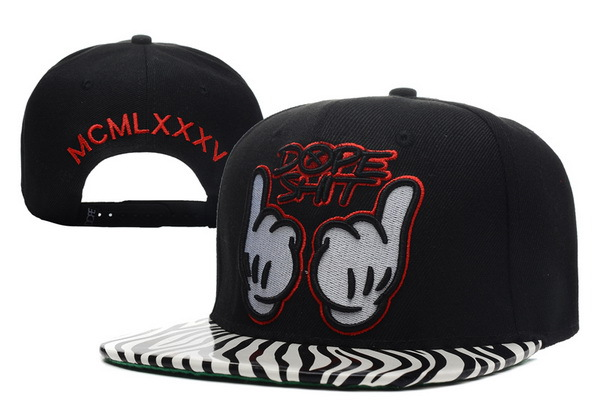 Dope Shit Stripe Black Snapback Hat XDF 0512