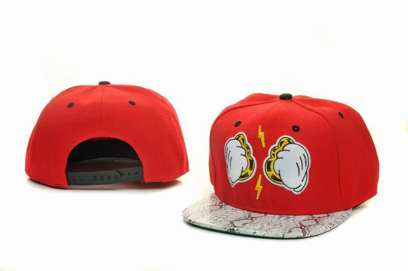 Dope Hand Red Snapback Hat GF 1