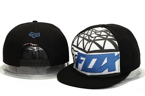 FOX Black Snapback Hat YS 0613
