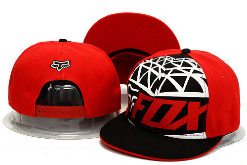 FOX Red Snapback Hat YS 0613
