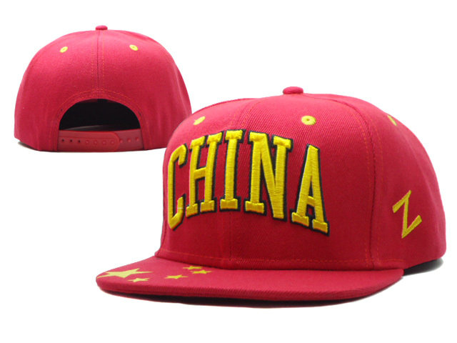 China Red Snapbacks Hat SF