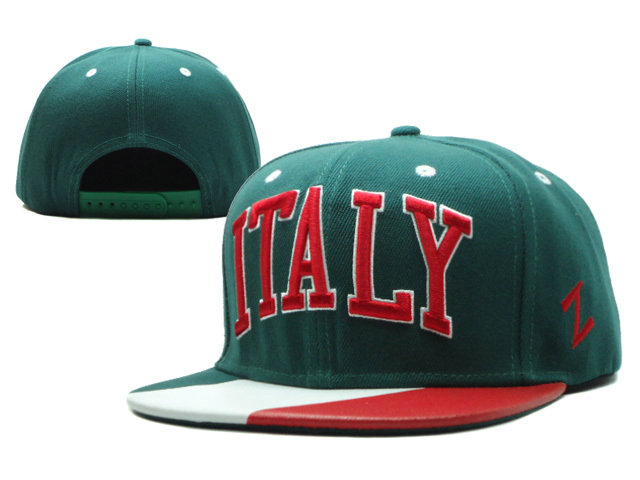 ITALY Green Snapbacks Hat SF