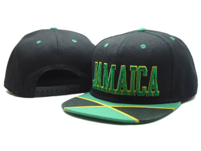 Jamaica Black Snapback Hat SF