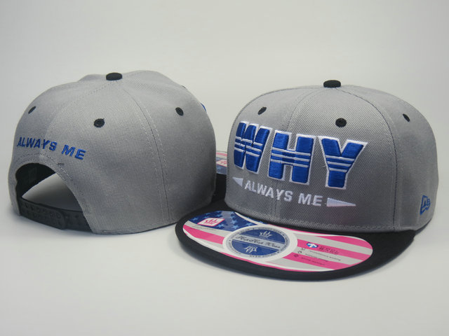 Always Me Grey Snapback Hat LS 0613