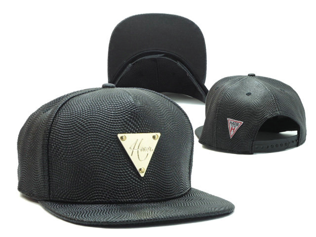 HATER Black Snapback Hat SF 0512