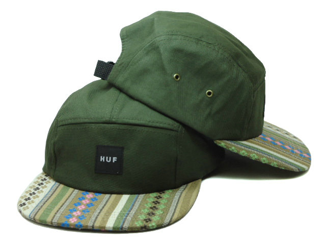 HUF 5 PANEL Green Snapback Hat SF 0721