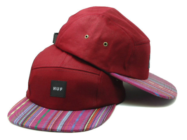 HUF 5 Red Snapback Hat SF 0528