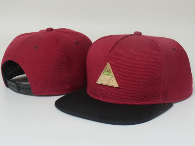HUF Red Snapback Hat LS 1