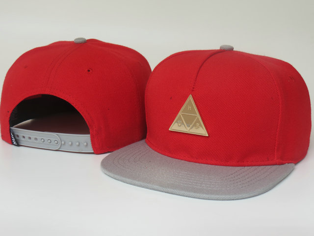 HUF Red Snapback Hat LS