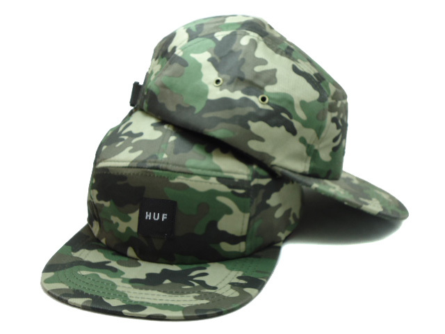 HUF 5 Panel Camo Snapback Hat SF 0512