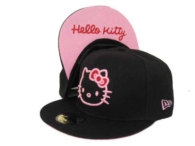 Hello Kitty Black Fitted Hat LX 0512