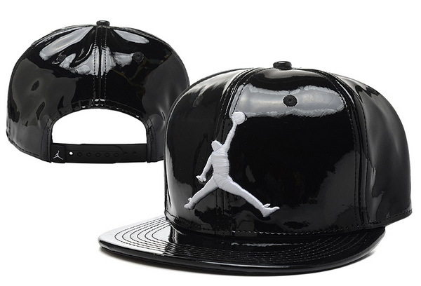 Jordan Leather Black Snapback Hat 3 XDF 0526