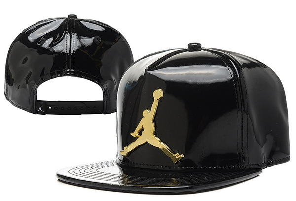 Jordan Leather Black Snapback Hat XDF 0526