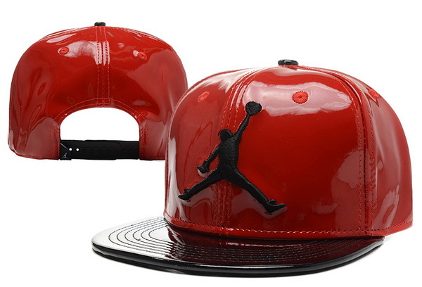 Jordan Leather Red Snapback Hat 1 XDF 0526