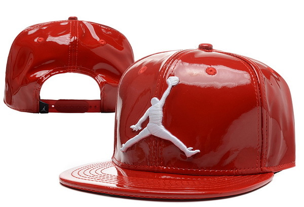 Jordan Leather Red Snapback Hat XDF 0526