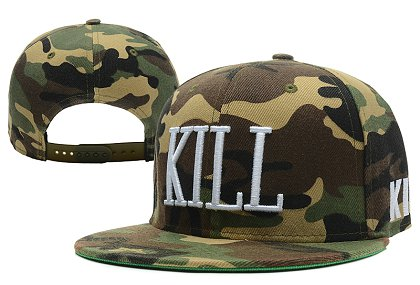 Kill Brand Killer Camo Snapback Hat XDF