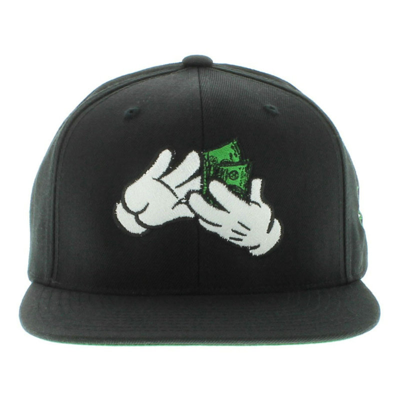 Large Paper Black Snapbacks Hat GF