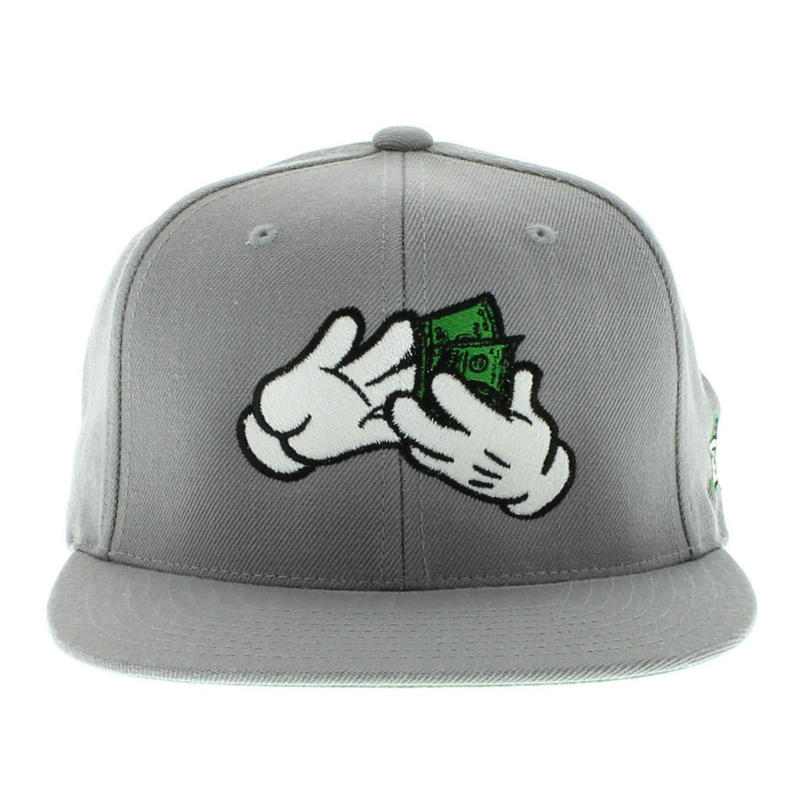 Large Paper Grey Snapbacks Hat GF