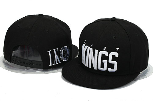 Last Kings Black Snapback Hat YS 0606
