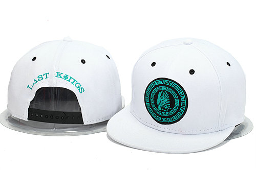 Last Kings White Snapback Hat YS 0606