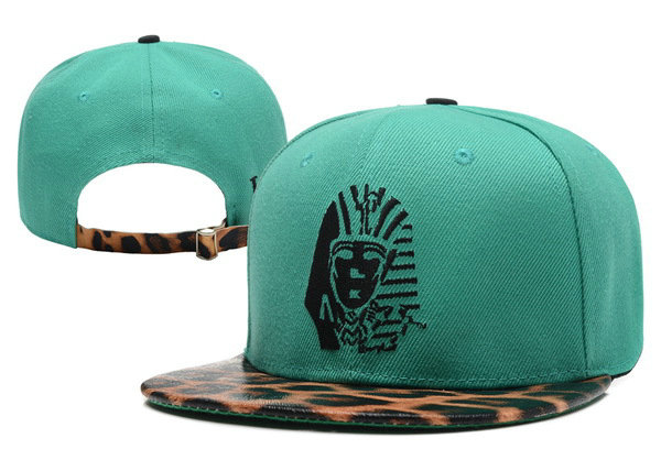 Last Kings Leopard Green Snapback Hat XDF 0617
