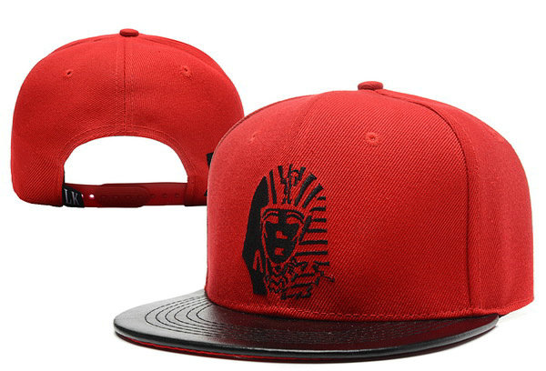 Last Kings Fur Red Snapback Hat XDF 0613