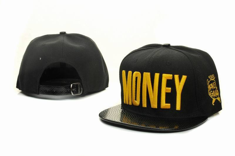 Money Black Snapbacks Hat GF 1