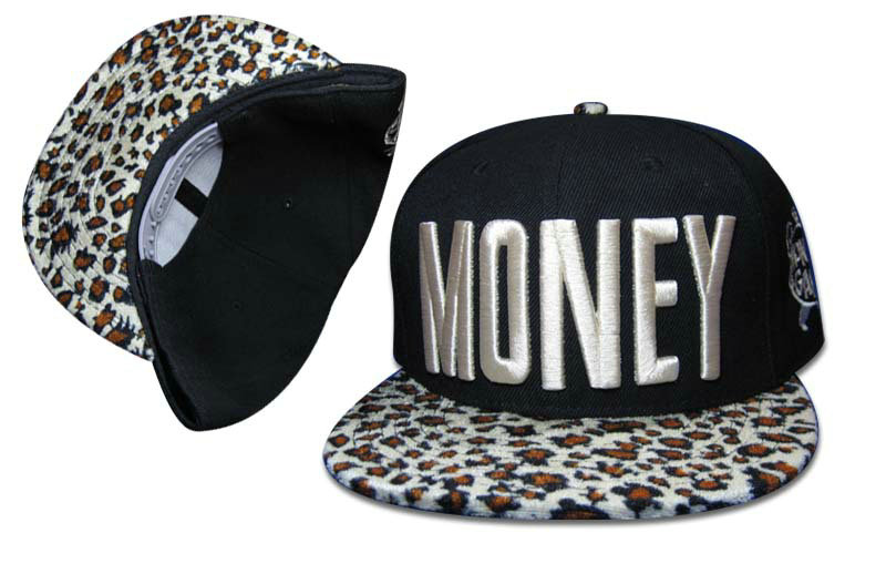 Money Black Snapbacks Hat GF 3
