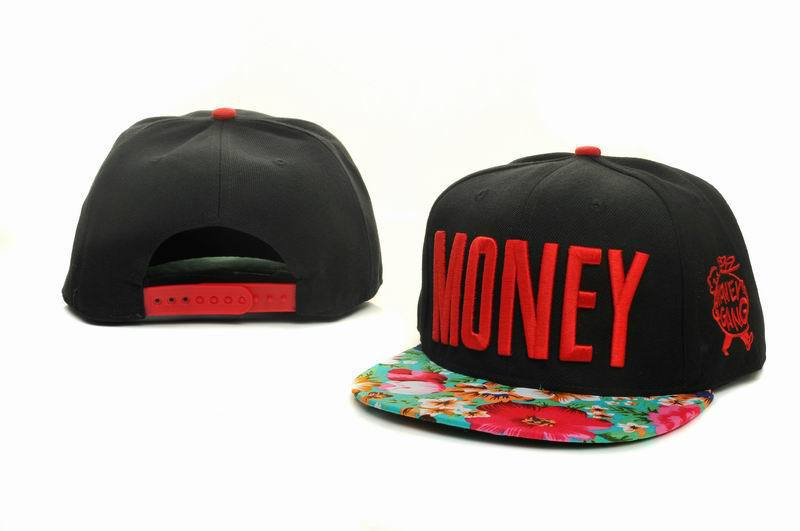 Money Black Snapbacks Hat GF