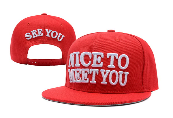 Nice to Meet You See You Snapback Hat XDF 2