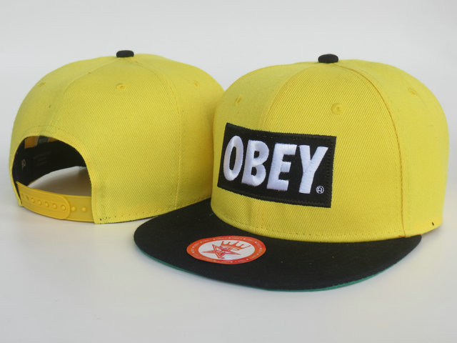 Obey Yellow Snapback Hat LS