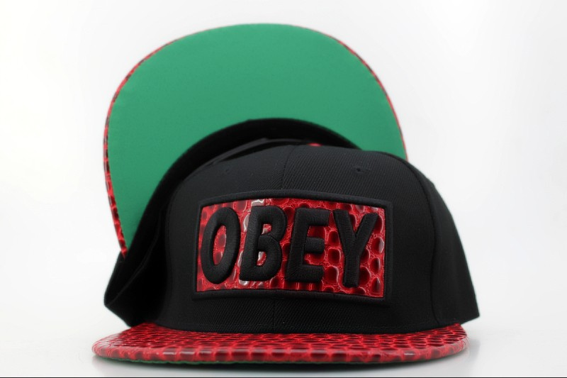 Obey Black Snapback Hat QH 1 0721