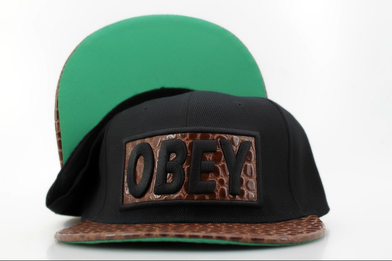 Obey Black Snapback Hat QH 3 0721