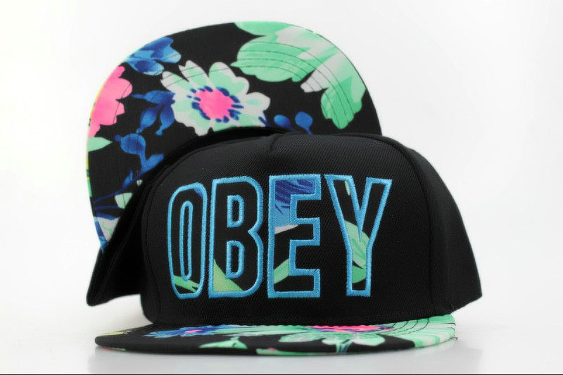 Obey Black Snapback Hat QH 0721