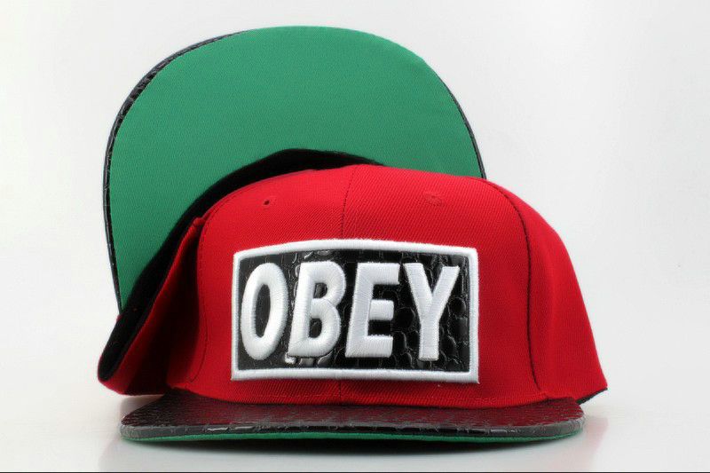 Obey Red Snapback Hat QH 0721