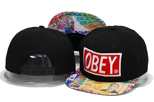 Obey Black Snapbacks Hat YS 0606