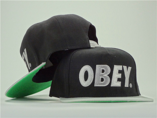 Obey Black Snapback Hat ZY 0701