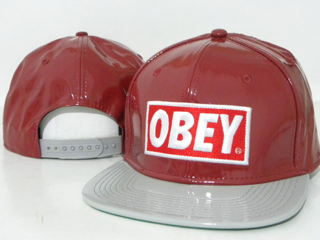 OBEY Snapback leather Hat DD01