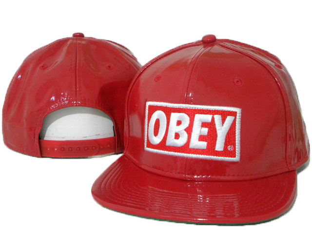OBEY Snapback leather Hat DD02
