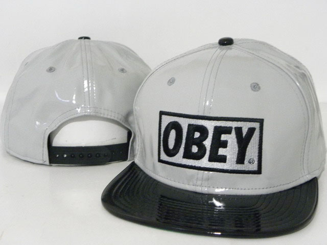 OBEY Snapback leather Hat DD04