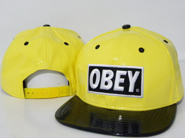 OBEY Snapback leather Hat DD05