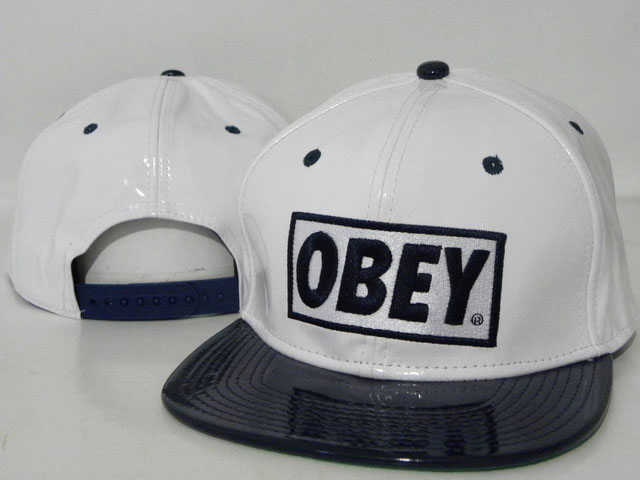 OBEY Snapback leather Hat DD07