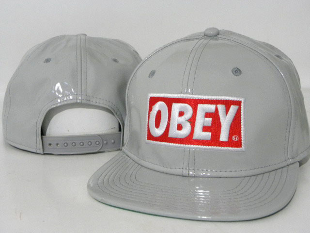 OBEY Snapback leather Hat DD08