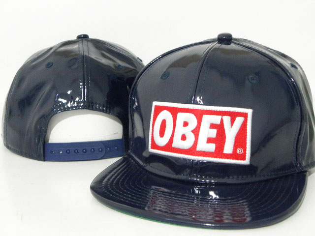 OBEY Snapback leather Hat DD09