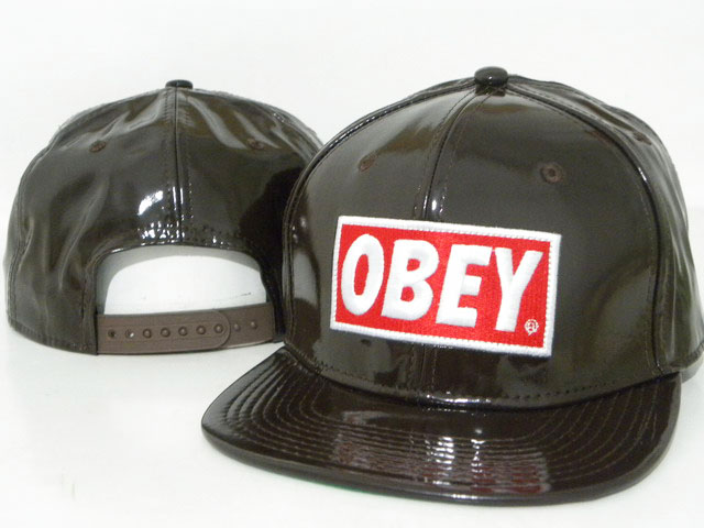 OBEY Snapback leather Hat DD11